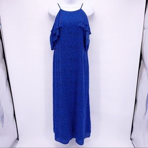 NEW Banana Republic Blue Cold Shoulder Maxi Dress